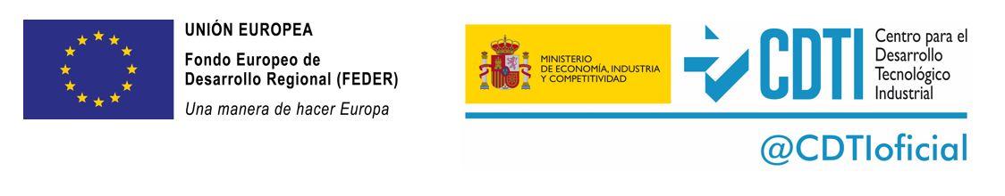 Logo UE Feder, CDTI-MINECO